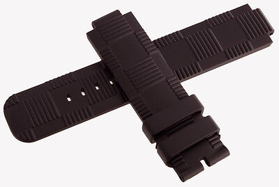 Louis Vuitton Tambour OEM 21 x 21mm Dark Brown Rubber Mens Watch Band Strap