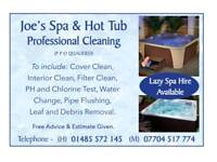Joe's spa and hot tub professional cleaning