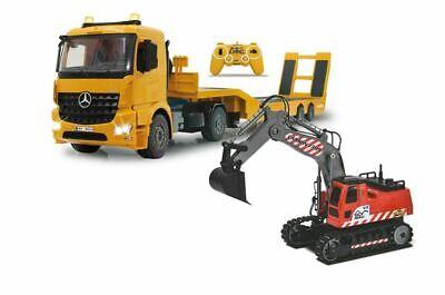 Jamara 405107 Tieflader Mercedes-Benz 1:20 + Carson 500907309 1:26 RC Bagger (Rc Tieflader)