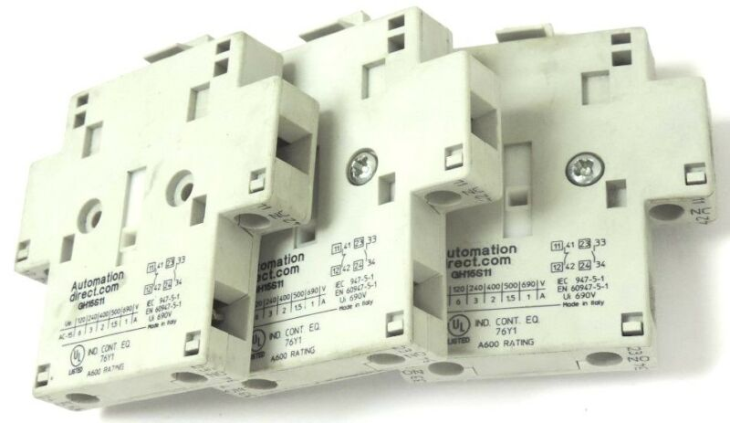LOT OF 3 AUTOMATION DIRECT CONTACTORS GH15S11 SIDE MOUNTED GH-15S11