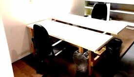 DESK SPACE AVAILABLE IN SPACIOUS OFFICE ON CANNHALL RD LEYTONSTONNE