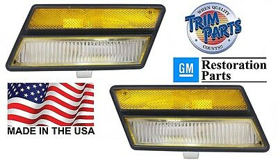1980-82 C3 CORVETTE STINGRAY Front Side Marker Lights PAIR 80 81 82 1980 1981 for sale  Alliance