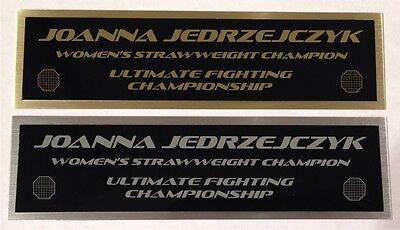 Joanna Jedrzejczyk UFC nameplate for signed mma gloves photo or case