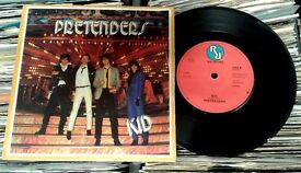 Pretenders ‎– Kid, VG, 7 inch single, released on Real Records in 1979, New Wave, Post Punk Vinyl