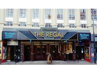 Bar staff wanted at the Regal, Cambridge. £7.20 per hour. Full time & Part time positions available.