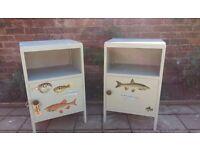 On Trend Vintage Fish Pair nightstands