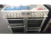 e030 stainless steel leisure 100cm ceramic electric range cooker comes with warranty can deliver