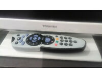 Toshiba TV, 19 inch, high picture quality with remote and DVD player just for 35