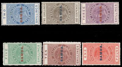 "SAMOA 1914-25 2sh-£1 SAMOA"" OVERPRINT ON NEW ZEALAND POSTAL FISCALS PERF 14½x14"