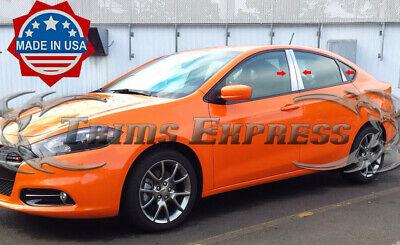 fit:2013-2016 Dodge Dart 6Pc Pillar Post Stainless Steel Trim Door Cover