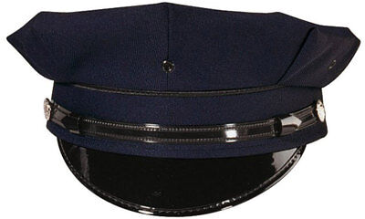 Navy Blue 8 Point Duty Cap, Uniform Hat Security Police Law Enforcement Officer](Policeman Uniform)