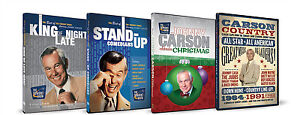 Johnny Carson 4 DVD Lot King of Late Night, Stand Up Comedians, Country, Xmas