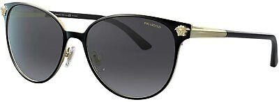 Versace VE2168 1377/T3 Sunglasses Black/Pale Gold / Polarized Grey Gradient Lens