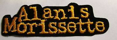 ALANIS MORISSETTE COLLECTABLE RARE VINTAGE PATCH EMBROIDED 90'S METAL LIVE