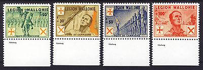 wwII Belgien Wallonische Legion 1939-45 Mi. I-IV gezähnt (*) REPRINT Fälschung