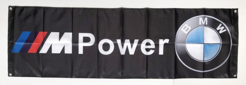 For BMW Motorsport Flag Banner Black 1.5X5ft/2x8ft Advertising Racing Polyester