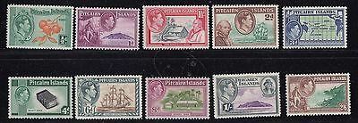 PITCAIRN ISLANDS : 1940 GVI definitive  set  SG 1-8  never-hinged mint