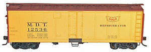 Accurail-HO-Scale-40-Steel-Reefer-Kit-Gulf-Mobile-Ohio-GM-O
