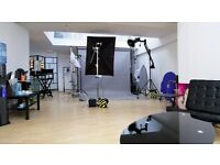 LONDON PHOTOGRAPHY STUDIO SHARE 550sq/f LUXURY OPEN-PLAN DAYLIGHT & FLASH IN CENTRAL KINGSTON.
