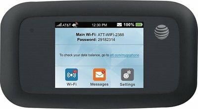 ZTE MF923 Velocity AT&T 4G LTE Mobile WiFi Hotspot Black