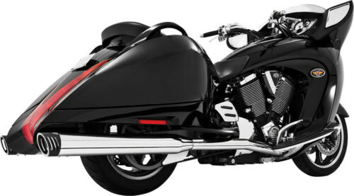 Freedom Performance Racing Dual Full Exhaust System Chrome/Black MV00017 Victory