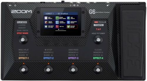 ZOOM G6 Multi-Effects Processor for Guitarists DHL Shipping New