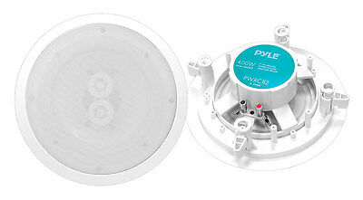 "8"" Ceiling Wall Mount Speakers - 2-Way Weatherproof Full R"