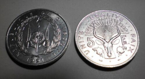 each 1991 Djibouti 5 Francs Giant Eland animal coin BU