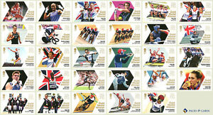 London 2012 Olympic Games Complete Set 29 Gold Medal Winners Mint Stamps Team GB