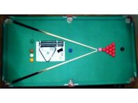 """Pool/Snooker Table & 3 in 1 Games Table for Sale + Free Bonus- 22"""" Logik tv with remote"""