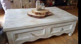Handmade upcycled pine table