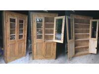 Antique Stripped Irish Pine Dresser Cupboard