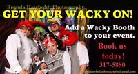 Wacky photo booth with a professional photographer