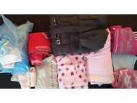 large bundle of girls clothes age 7-8 years dress jacket trousers cardigan hoody