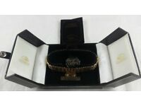NEW UNWORN 18CT GOLD PLATED MESH BRACELET- ST MONTIENNE BOXED WITH CERTIFICATE
