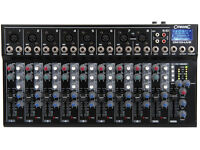 Citronic CM10 Live Compact Mixer with Delay & USB SD Player - Mint