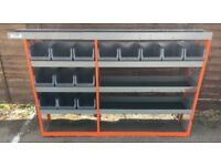 Van Racking / Shelving - TRUKRAX - 6 Shelves / 14 Storage Boxes / Pipe Carrier - G Condition -