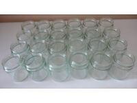 24 Glass Round 240g (12oz) Jam Jars, Crafts, Wedding, Party, Storage, Preserves - 55 Jars available