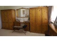 super quality pine triple door wardrobes