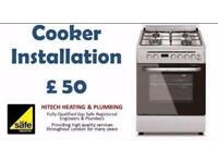 GAS COOKER/HOB INSTALLATION, GAS SAFETY CERTIFICATION, GAS SAFETY REGISTERED ENGINEER