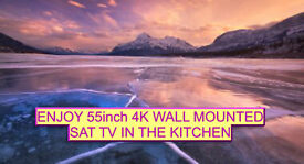 Double Rooms: Great Rooms With Sat Tv + Dvd/Usb Wify Tea Basin Sink And More Kitchen has 55in 4K TV