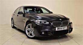 BMW 5 SERIES 2.0 520D M SPORT 4d AUTO 181 BHP + SAT NAV + AIR C (grey) 2014
