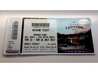 1 x Latitude Festival Weekend Camping Ticket (adult)