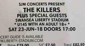 **THE KILLERS** Concert 2 x Seated Tickets