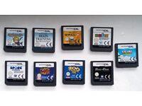 Nintendo Dual Screen DS Games, Bundle, 9 games