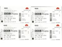 BBC Prom 18 - Beethoven's 2nd & 5th. 4 tickets at face value (plus parking voucher)