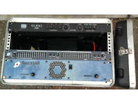 """Amplifier Equaliser and Lighting controller in SGB 19"""" flight case"""