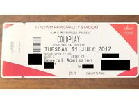 Coldplay Cardiff Tue 11 July - Tickets