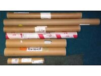 7 x poster tubes