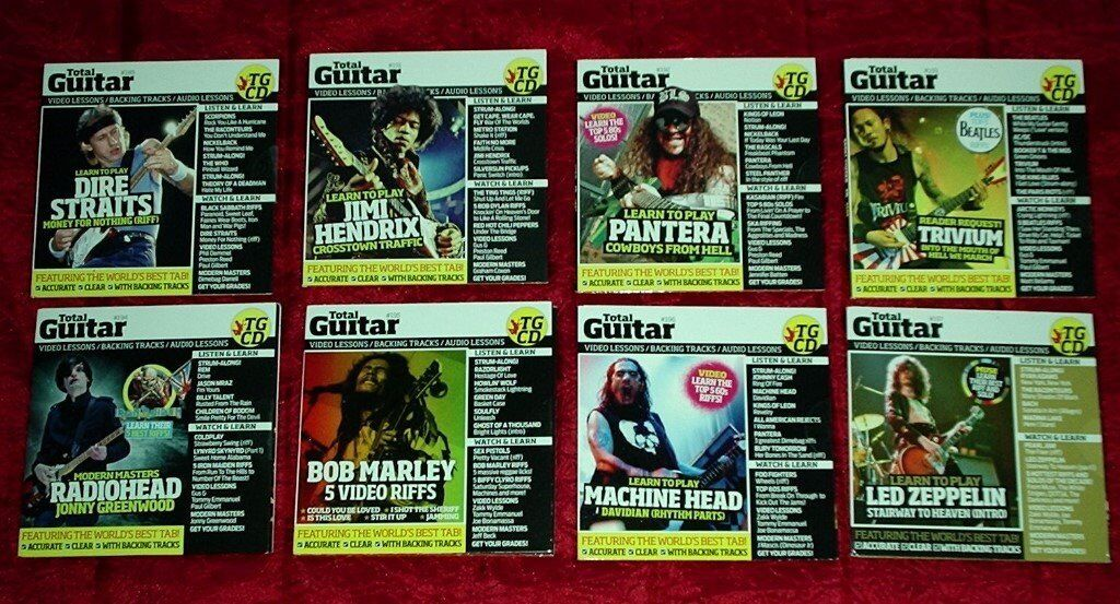 48 CD's of 'TOTAL GUITAR' - LEARN TO PLAY GUITAR - audio lessons tuning